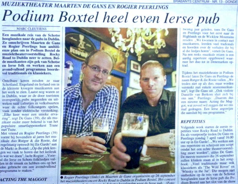 Podium Boxtel heel even Ierse Pub