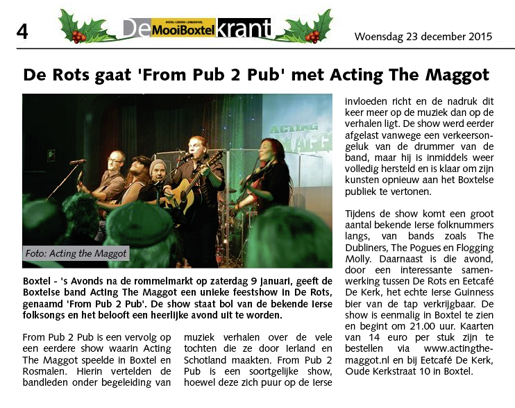 Acting The Maggot - Beste Ierse folk band Nederland