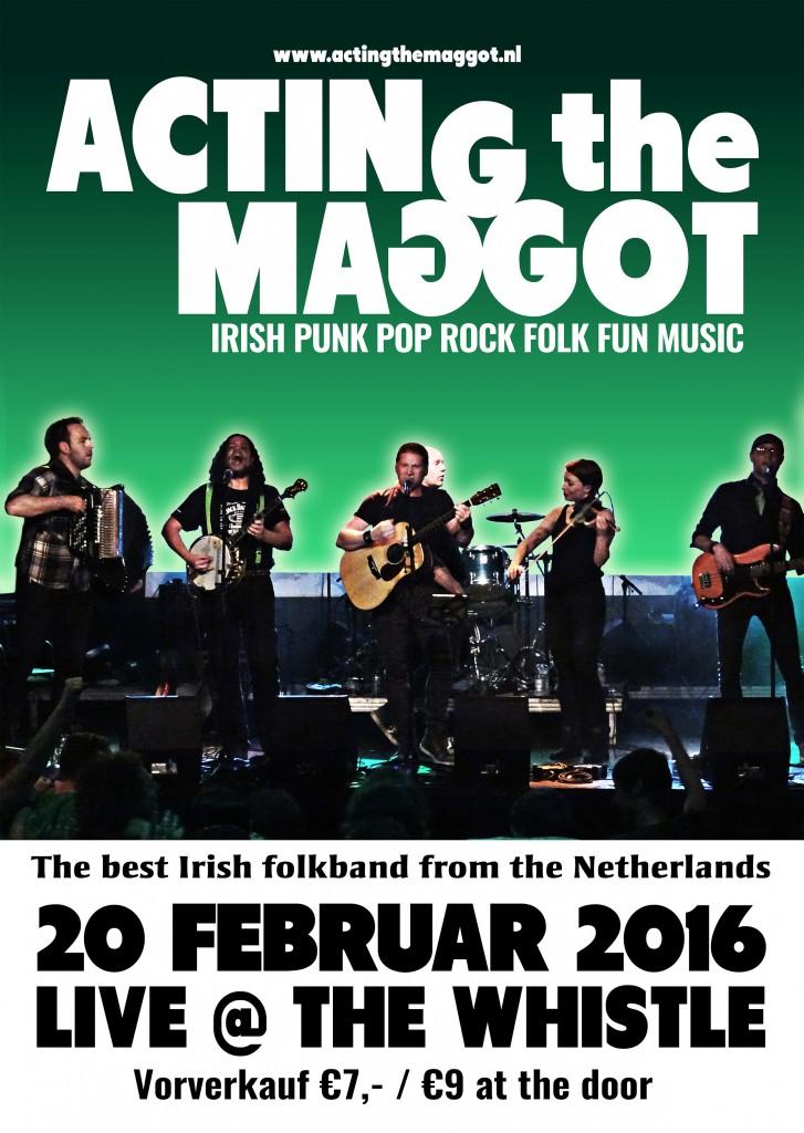 The Whistle Irish Pub Kempen mit Irish Folk mit Acting The Maggot
