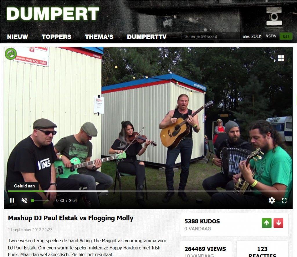 Dumpert Band - Acting The Maggot - Paul Elstak Flogging Molly