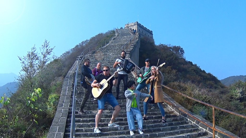 Streams of Whiskey on Great Wall of China