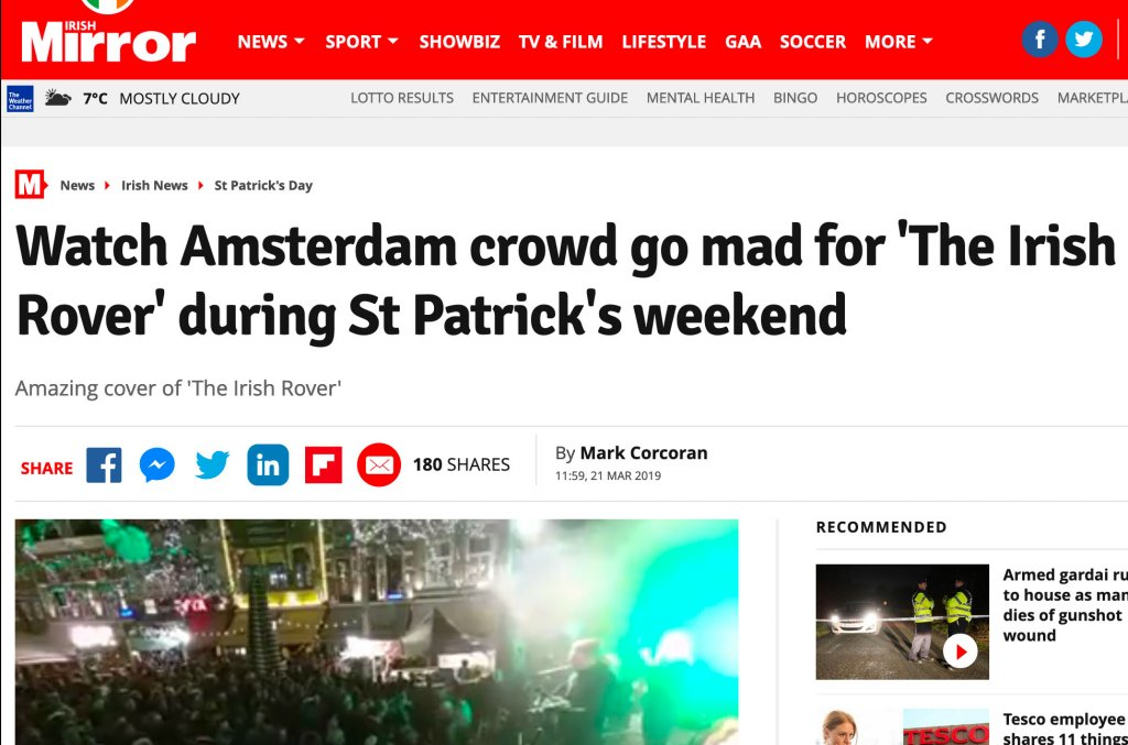 Acting The Maggot - Irish Daily Mirror - St. Patrick's Day